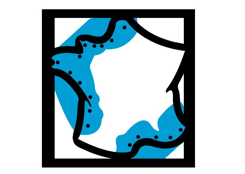 Carte du réseau Maisons France Litoral